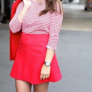 J. Crew Pink Flare Skirt Size 0